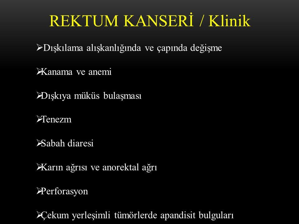 REKTUM KANSERİ / Klinik