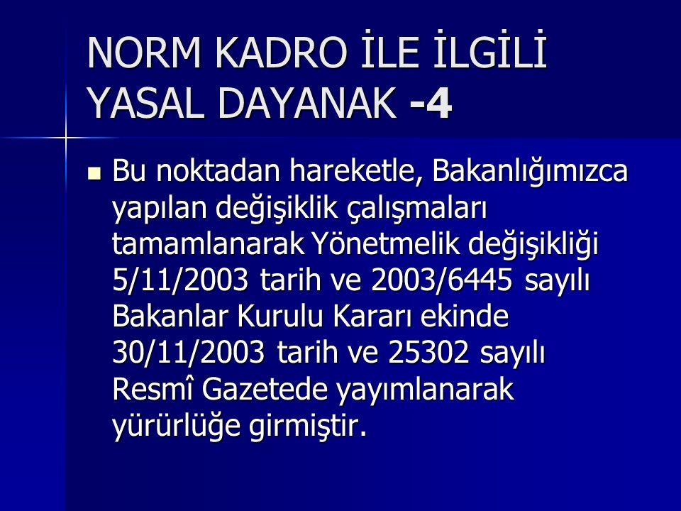 NORM KADRO İLE İLGİLİ YASAL DAYANAK -4