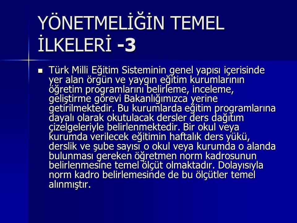 YÖNETMELİĞİN TEMEL İLKELERİ -3