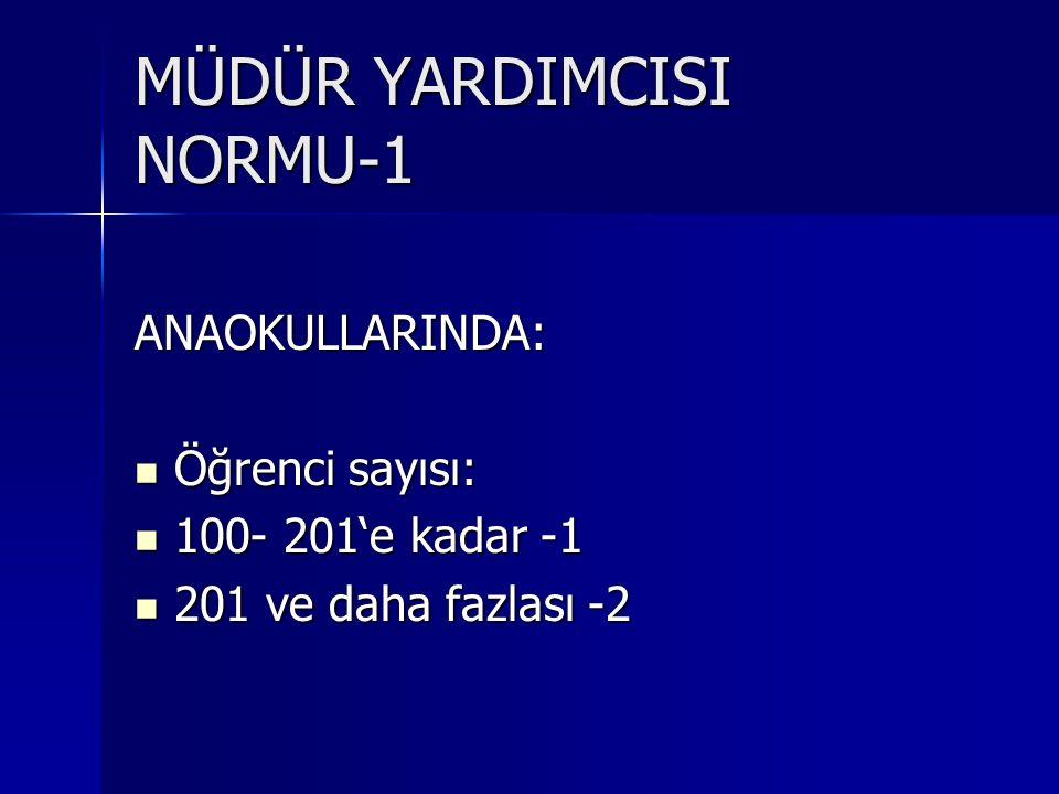 MÜDÜR YARDIMCISI NORMU-1
