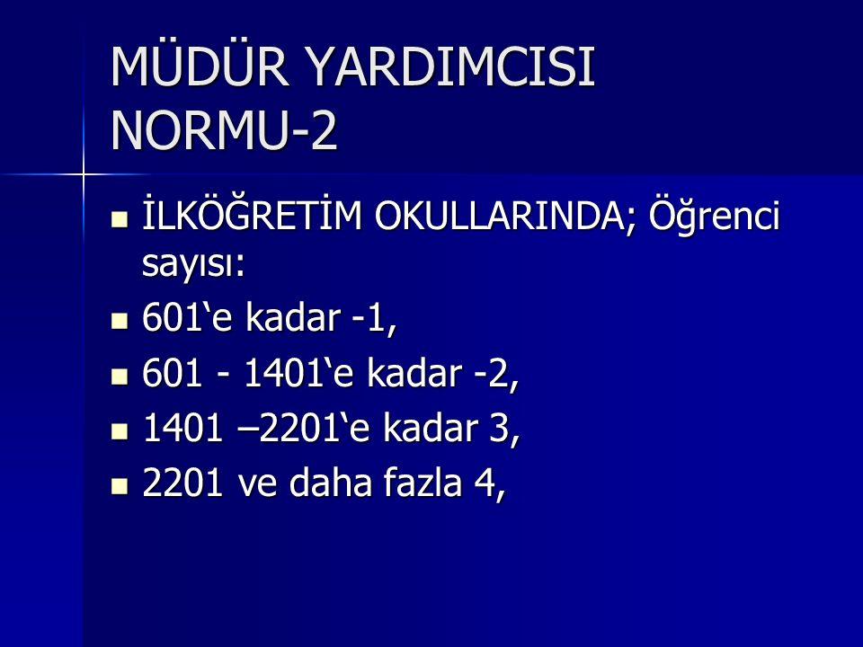 MÜDÜR YARDIMCISI NORMU-2