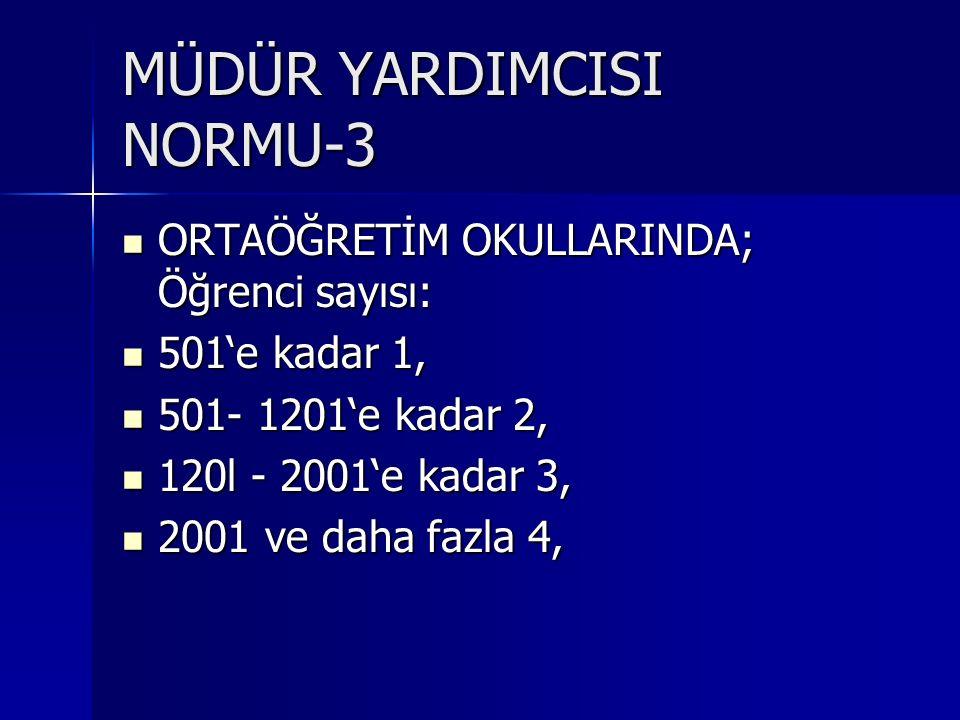 MÜDÜR YARDIMCISI NORMU-3