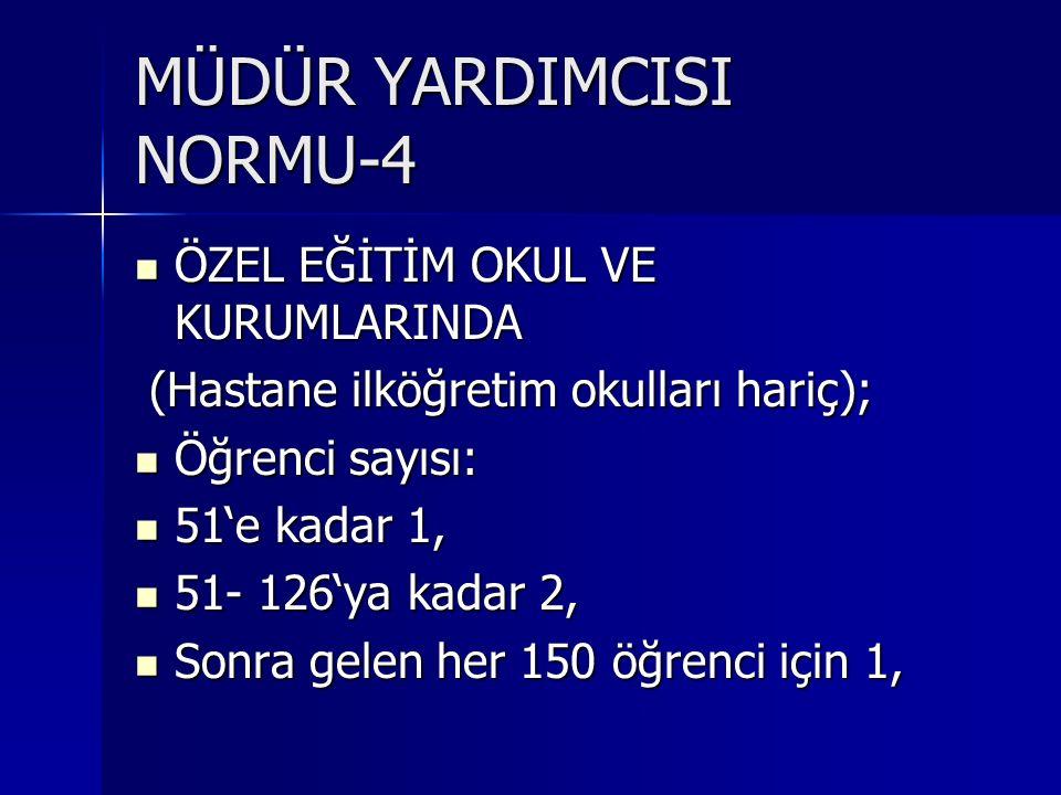 MÜDÜR YARDIMCISI NORMU-4