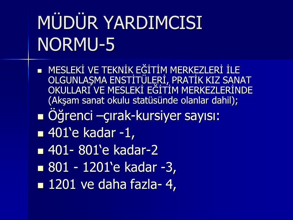 MÜDÜR YARDIMCISI NORMU-5