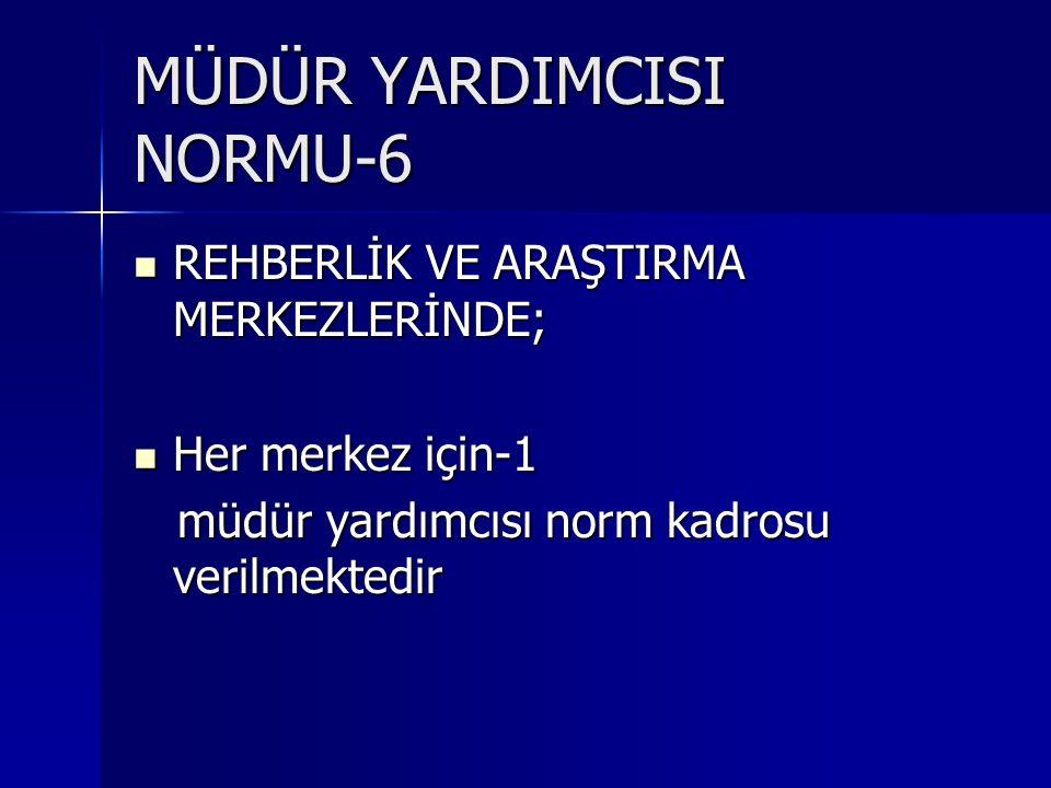 MÜDÜR YARDIMCISI NORMU-6