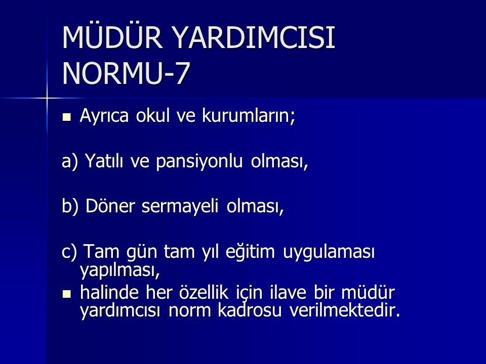 MÜDÜR YARDIMCISI NORMU-7