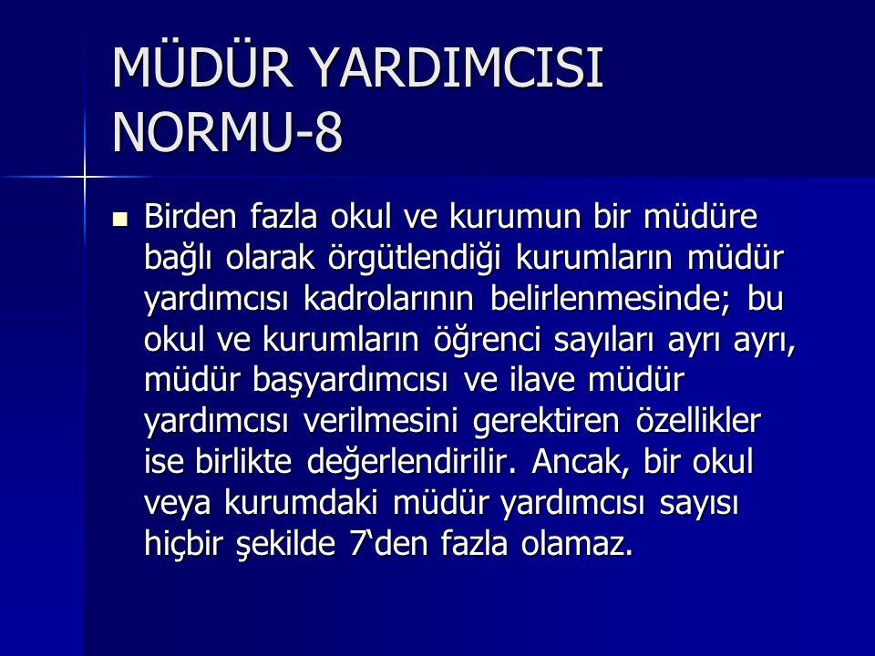 MÜDÜR YARDIMCISI NORMU-8