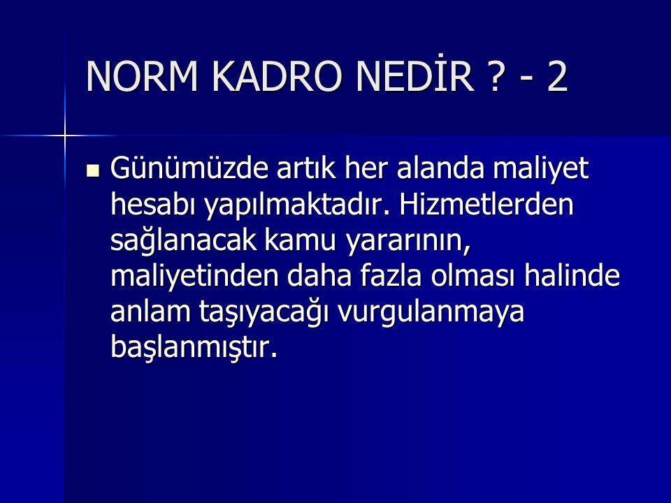 NORM KADRO NEDİR - 2