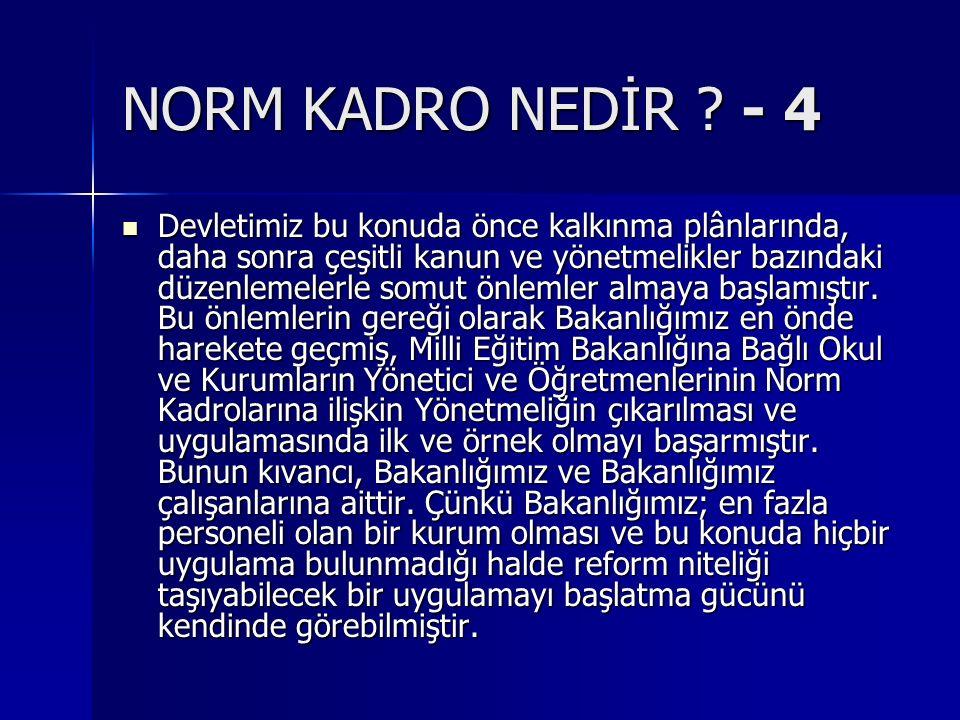 NORM KADRO NEDİR - 4