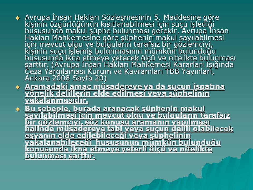 Avrupa İnsan Hakları Sözleşmesinin 5