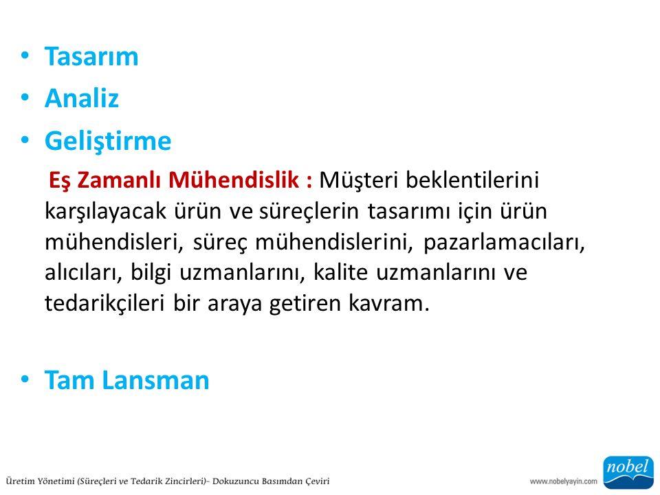 Tasarım Analiz Geliştirme Tam Lansman