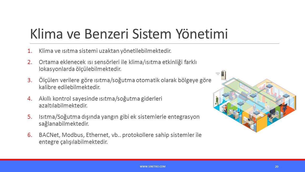 Klima ve Benzeri Sistem Yönetimi