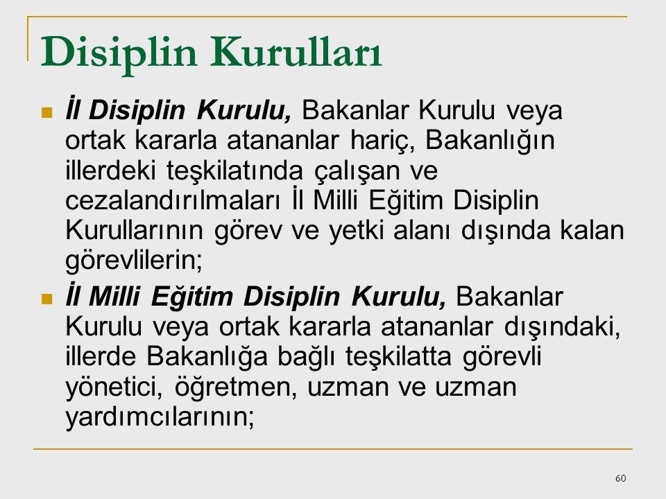 Disiplin Kurulları