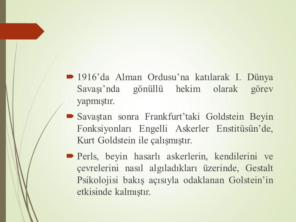 1916'da Alman Ordusu'na katılarak I