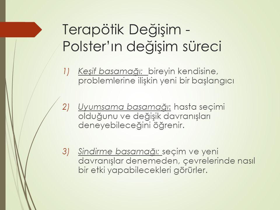 Terapötik Değişim - Polster'ın değişim süreci