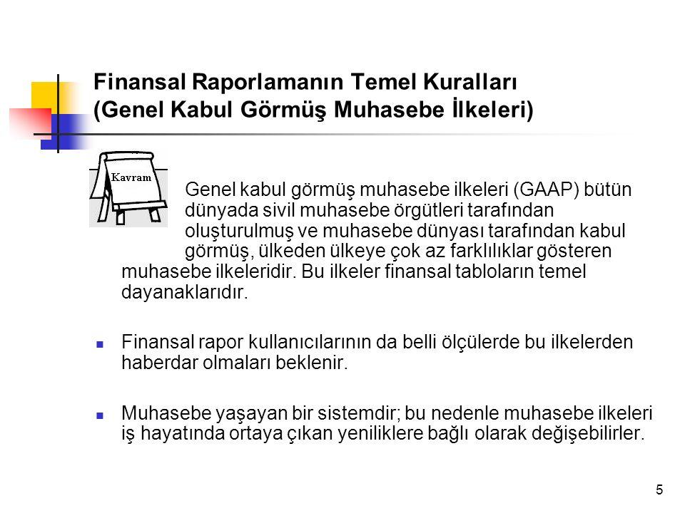 Finansal Raporlamanın Temel Kuralları (Genel Kabul Görmüş Muhasebe İlkeleri)