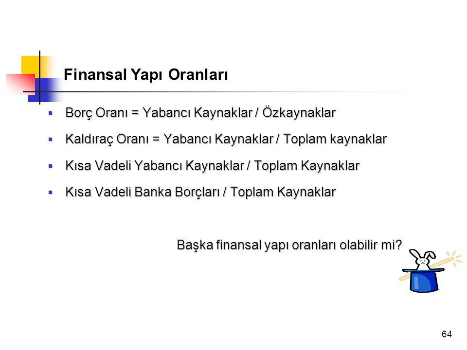 Finansal Yapı Oranları
