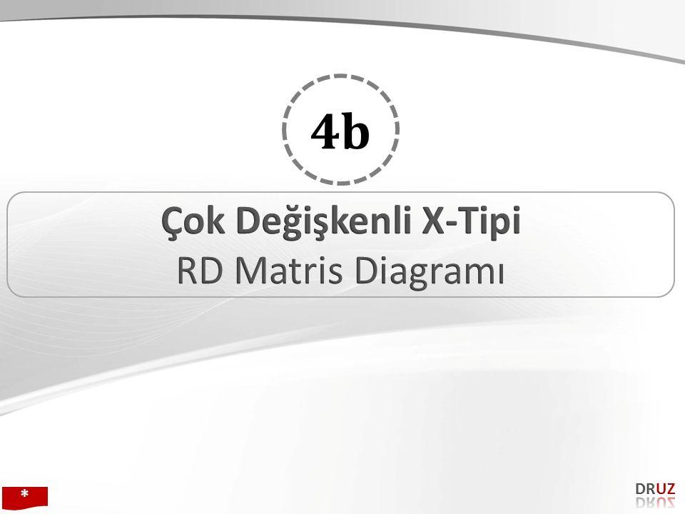 4b Çok Değişkenli X-Tipi RD Matris Diagramı DRUZ * 134 134