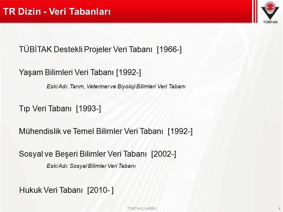 TR Dizin - Veri Tabanları