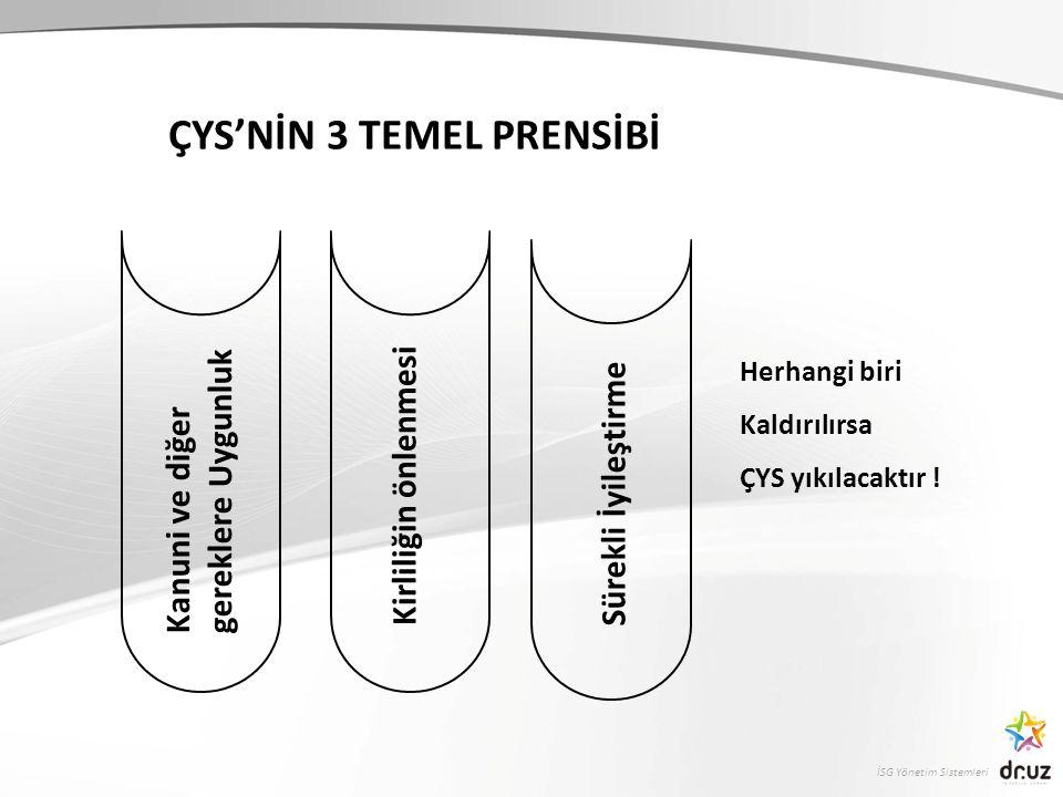 ÇYS'NİN 3 TEMEL PRENSİBİ