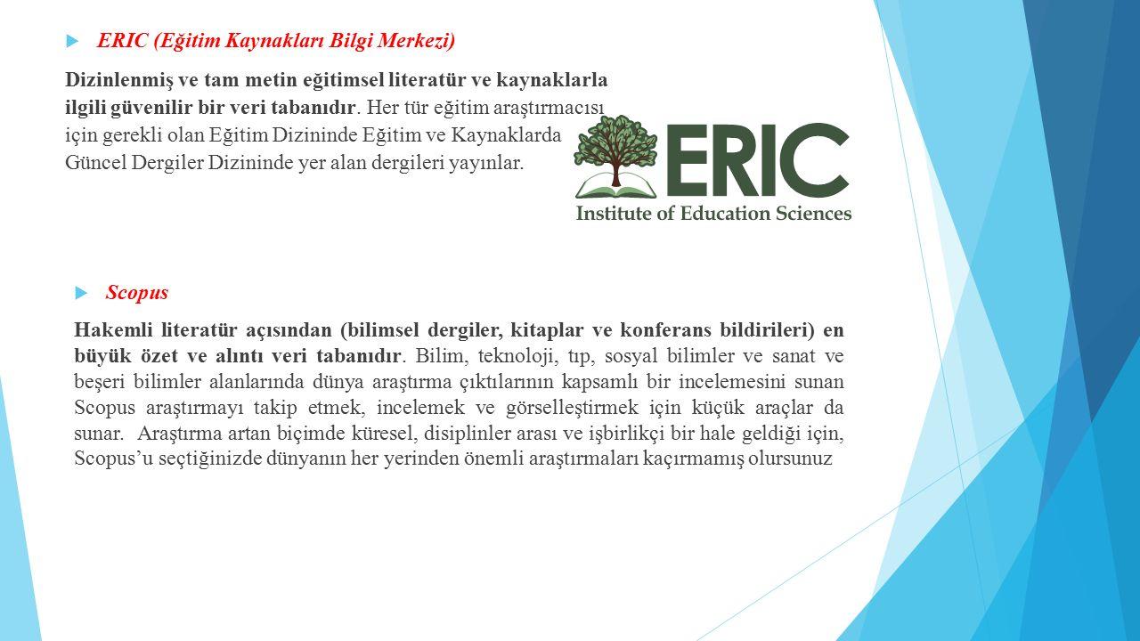 ERIC (Eğitim Kaynakları Bilgi Merkezi)