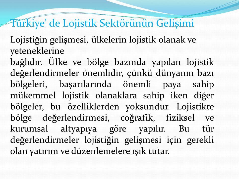 Türkiye' de Lojistik Sektörünün Gelişimi