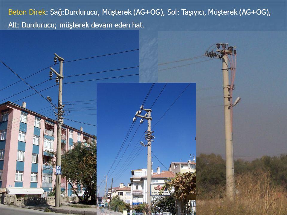 Beton Direk: Sağ:Durdurucu, Müşterek (AG+OG), Sol: Taşıyıcı, Müşterek (AG+OG),
