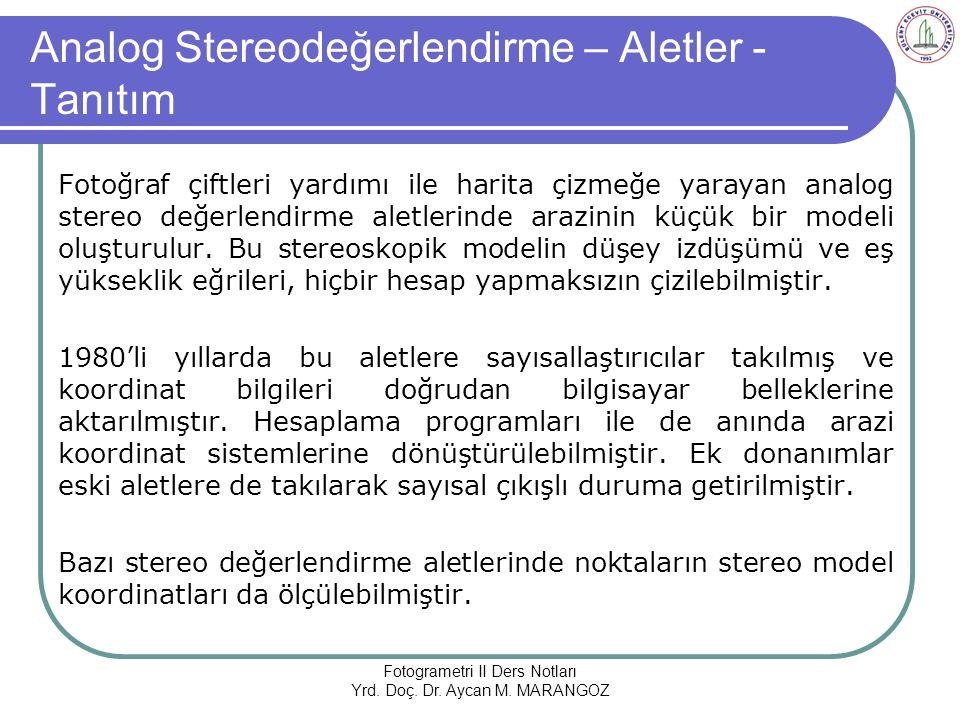Analog Stereodeğerlendirme – Aletler - Tanıtım