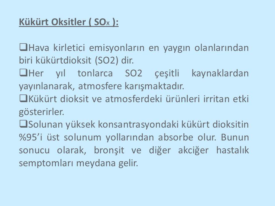 Kükürt Oksitler ( SOX ):