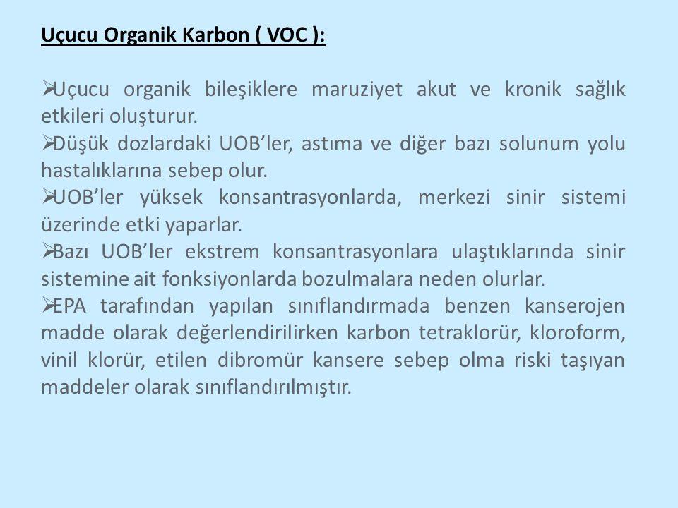 Uçucu Organik Karbon ( VOC ):