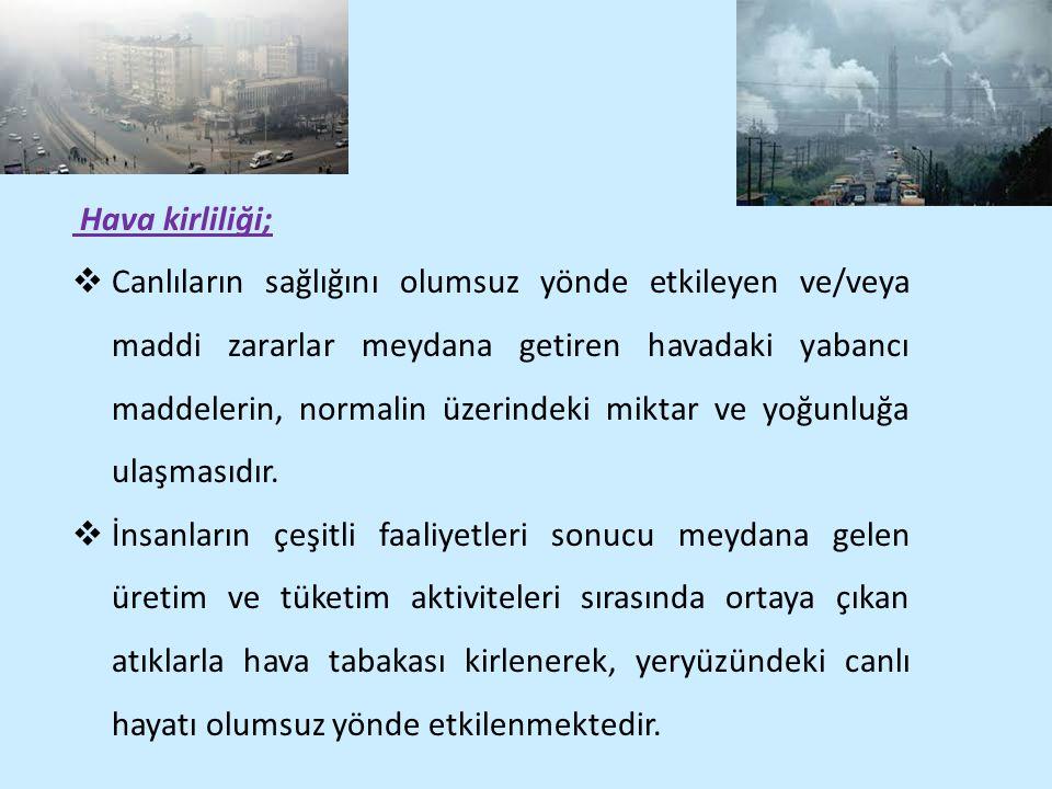 Hava kirliliği;