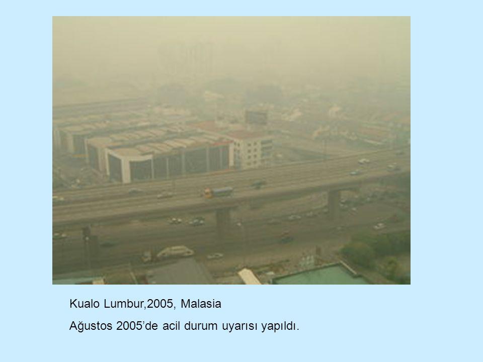 Kualo Lumbur,2005, Malasia Ağustos 2005'de acil durum uyarısı yapıldı.