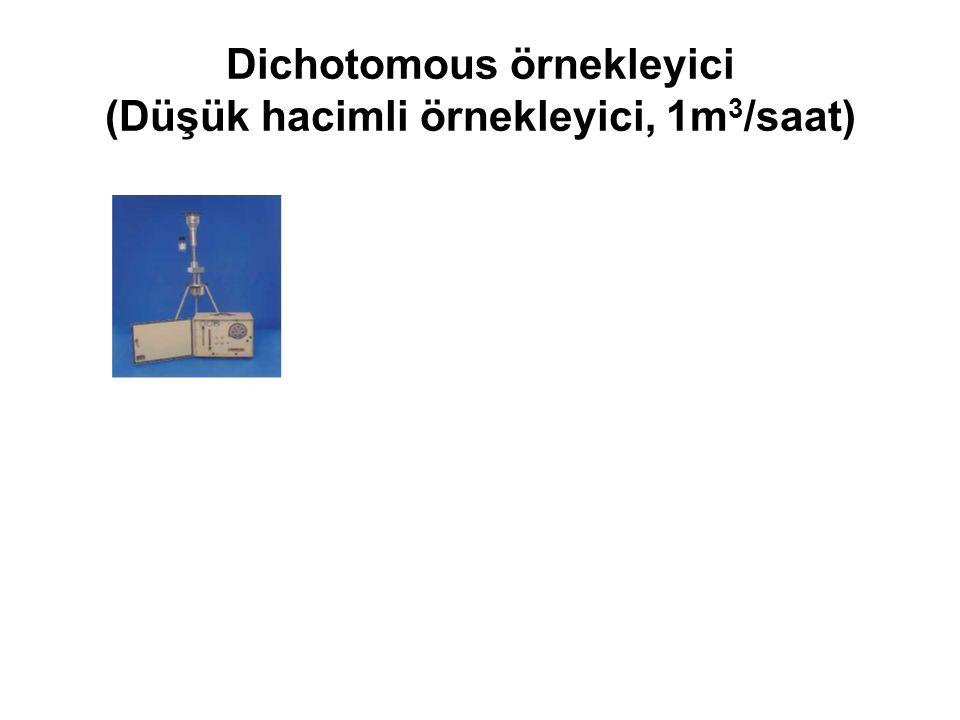 Dichotomous örnekleyici (Düşük hacimli örnekleyici, 1m3/saat)