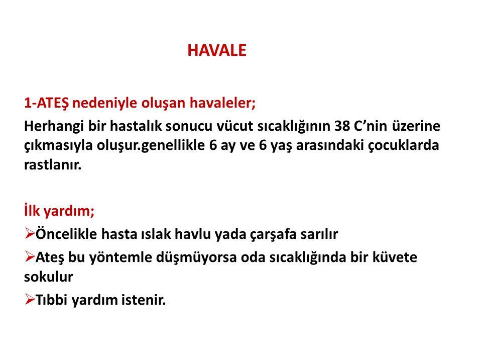 HAVALE 1-ATEŞ nedeniyle oluşan havaleler;