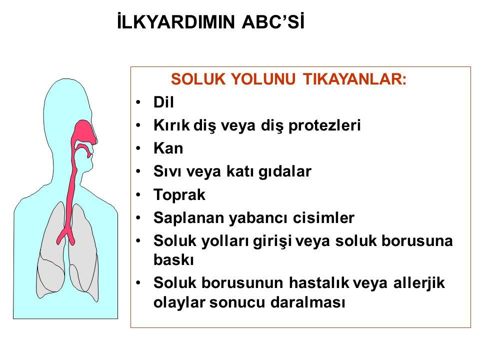 İLKYARDIMIN ABC'Sİ SOLUK YOLUNU TIKAYANLAR: Dil