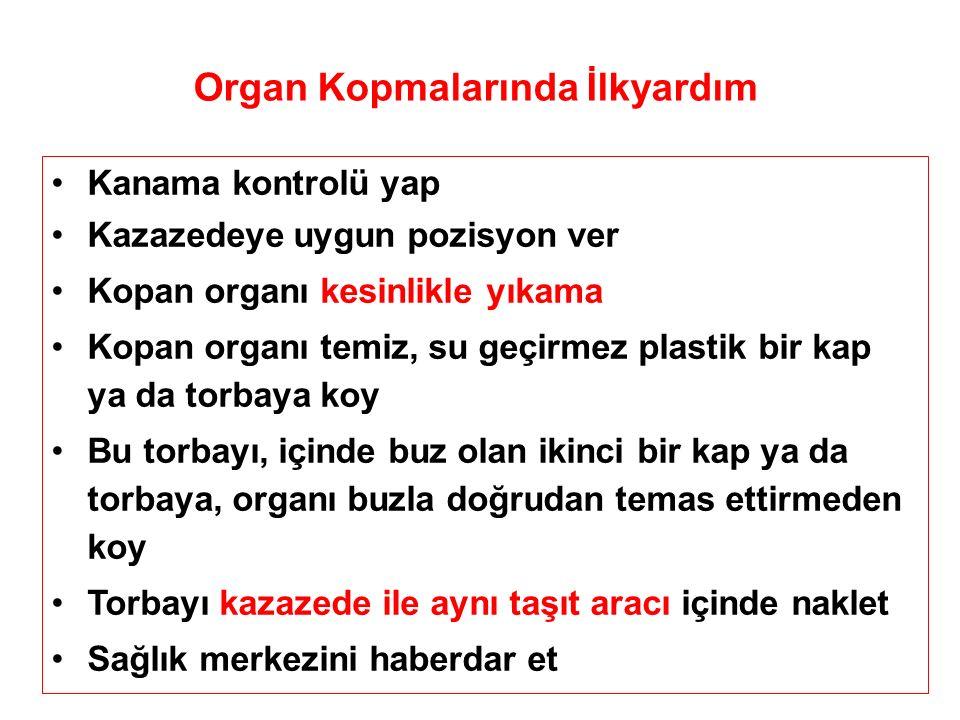 Organ Kopmalarında İlkyardım