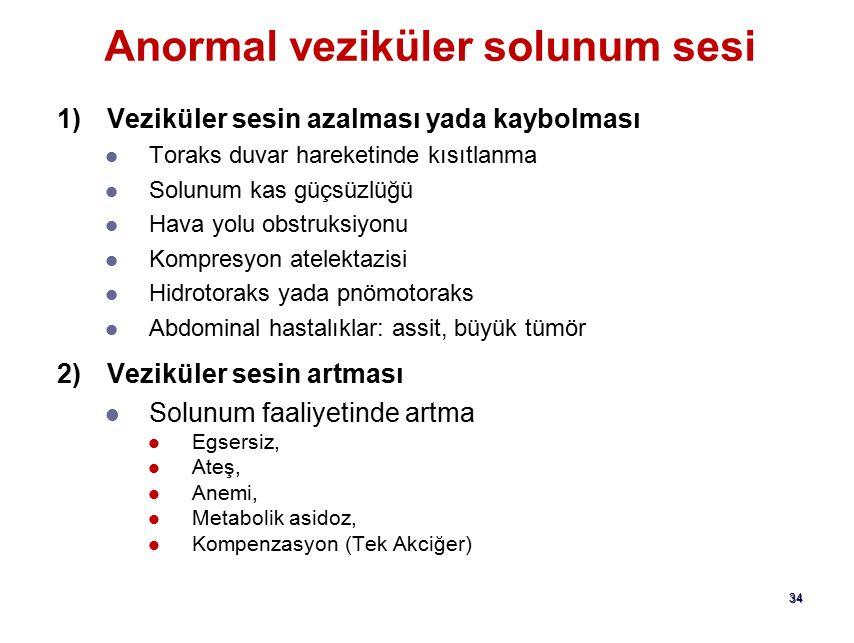 Anormal veziküler solunum sesi