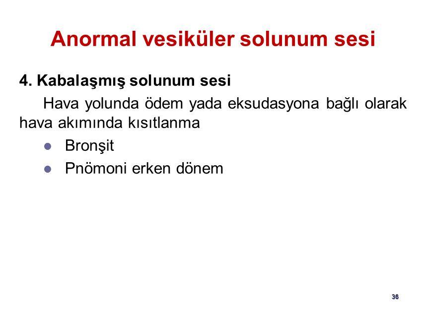 Anormal vesiküler solunum sesi