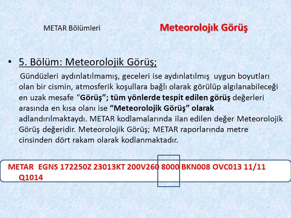 METAR Bölümleri Meteorolojık Görüş