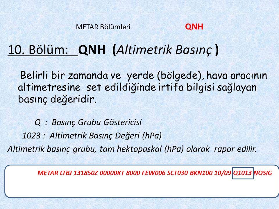 10. Bölüm: QNH (Altimetrik Basınç )