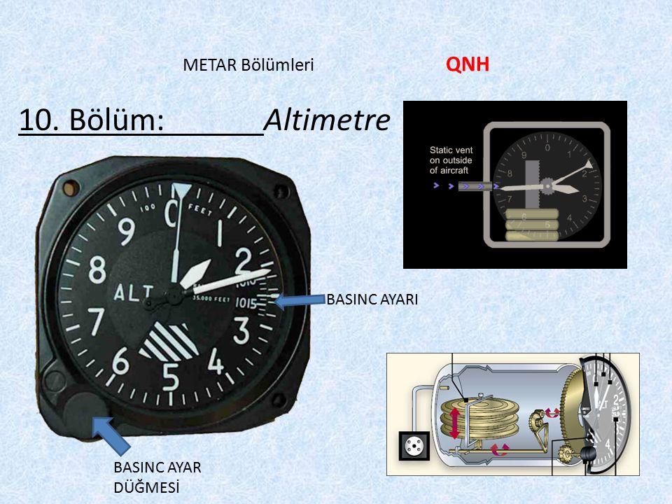 10. Bölüm: Altimetre METAR Bölümleri QNH BASINC AYARI
