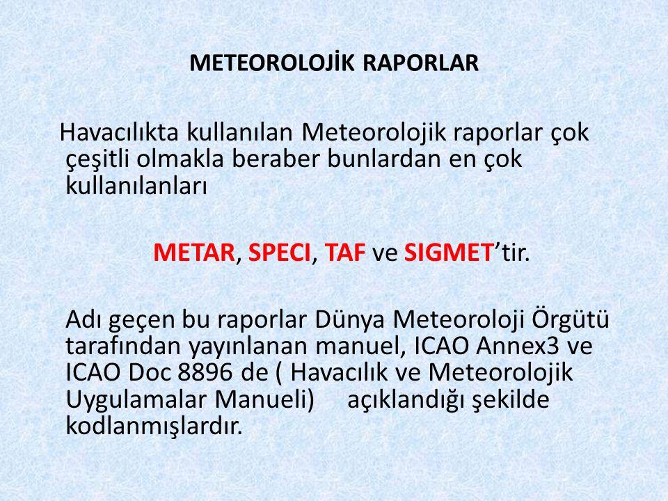 METEOROLOJİK RAPORLAR