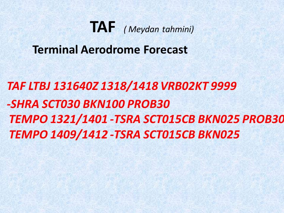 TAF ( Meydan tahmini)