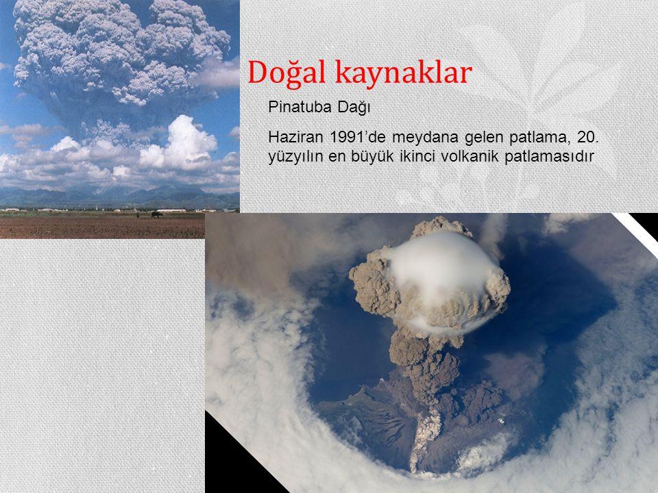 Doğal kaynaklar Pinatuba Dağı