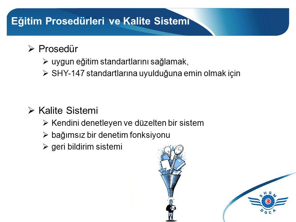 Eğitim Prosedürleri ve Kalite Sistemi