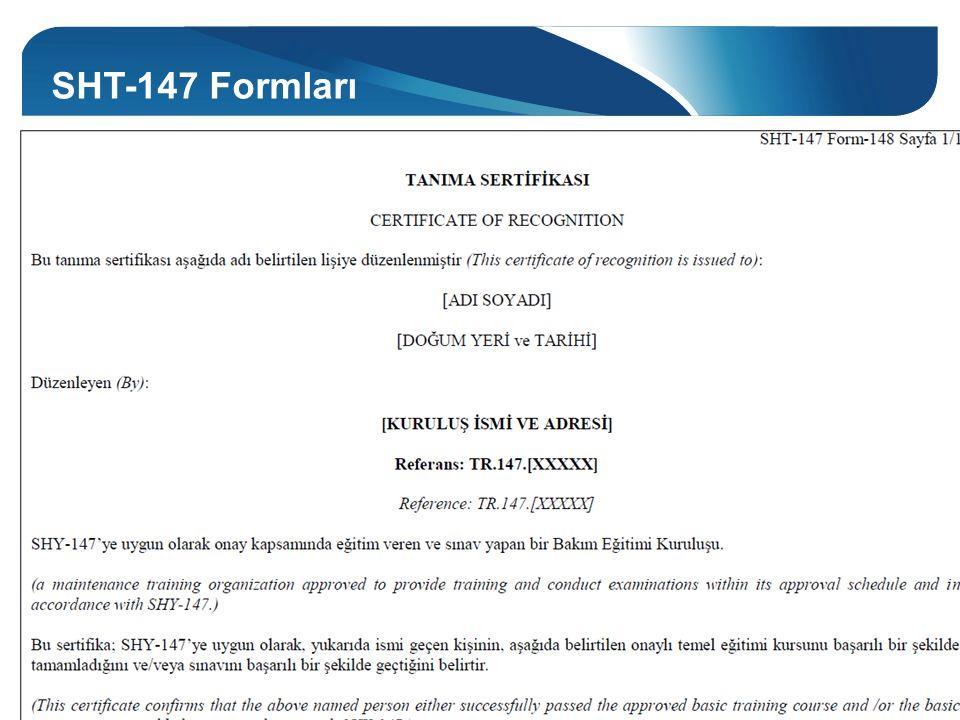 SHT-147 Formları Form-148 SHT-147 Form-148 ve SHT-147 Form-149