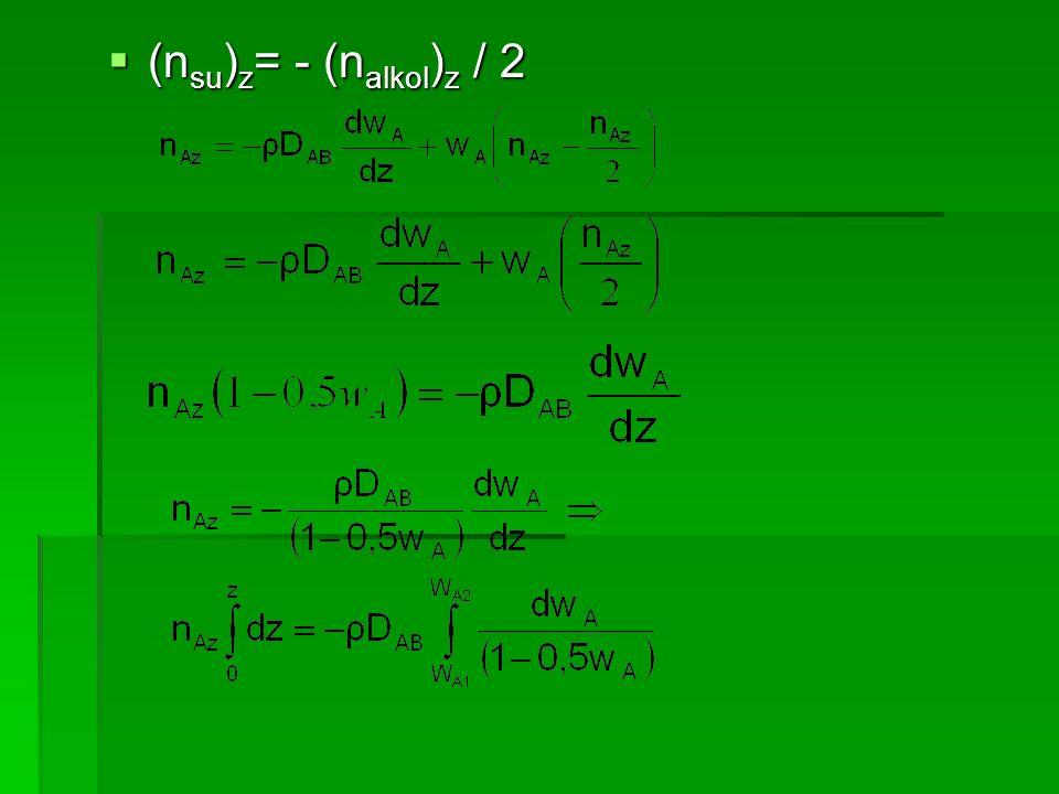 (nsu)z= - (nalkol)z / 2