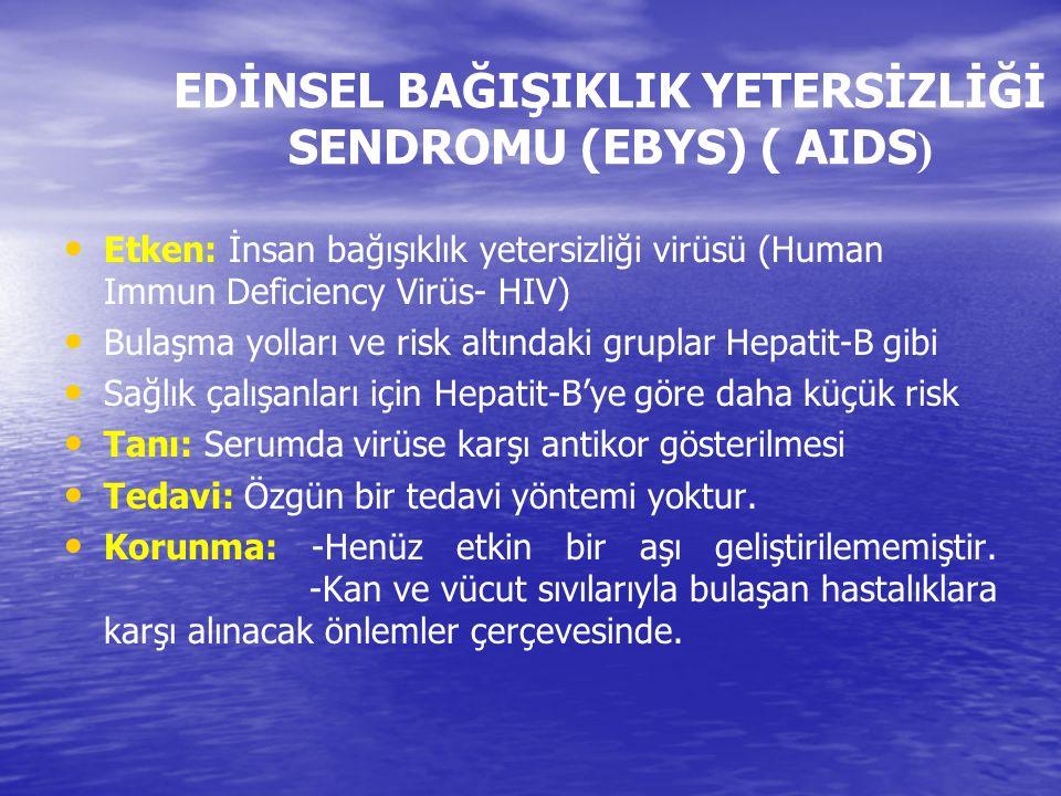 EDİNSEL BAĞIŞIKLIK YETERSİZLİĞİ SENDROMU (EBYS) ( AIDS)