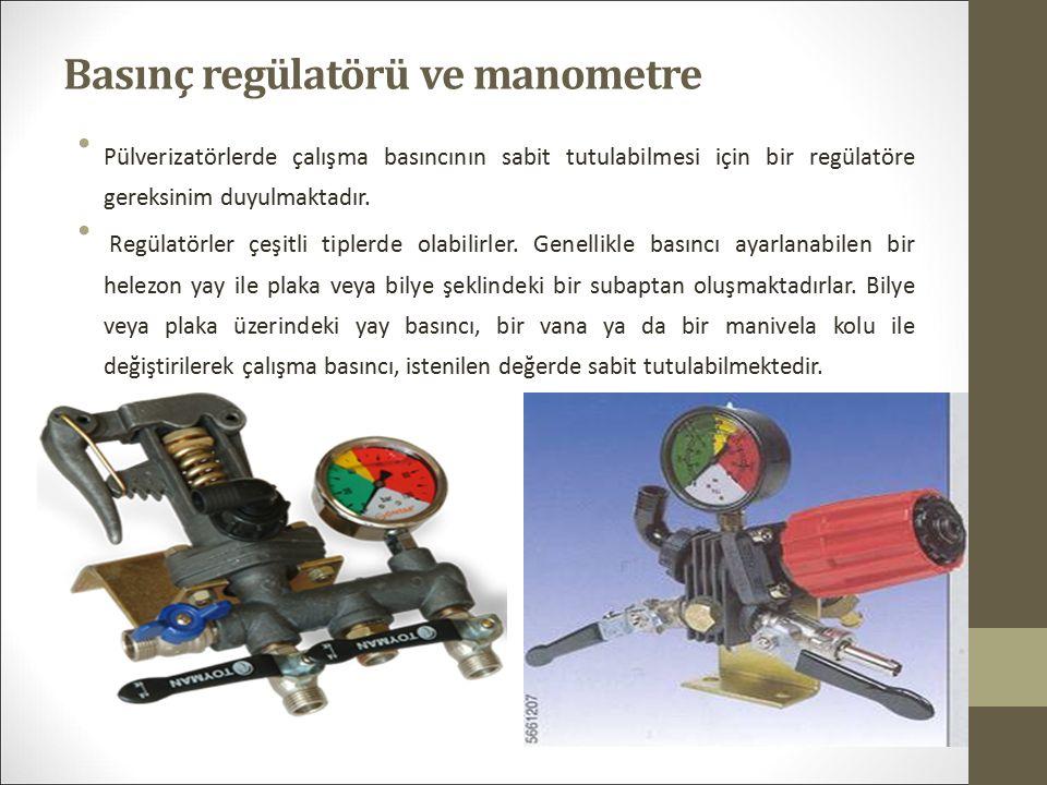 Basınç regülatörü ve manometre