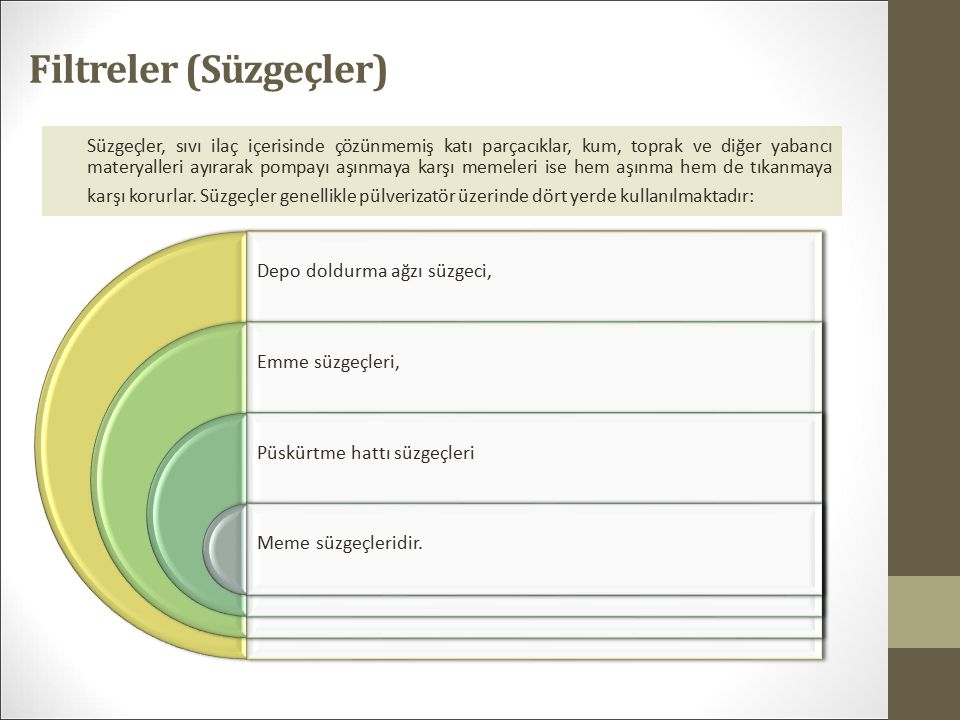 Filtreler (Süzgeçler)